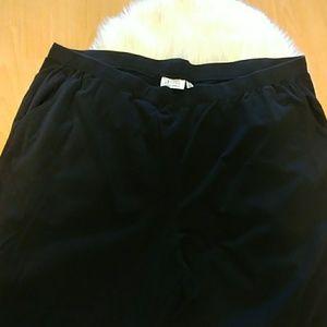 Denim & Co. Black Knit Straight Leg Pants-3X